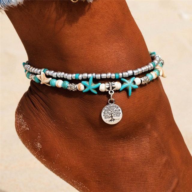Photo of New Shell Beads Starfish Anklets for Women Beach Anklet Leg Bracelet Handmade Bohemian Foot Chain Boho Jewelry Sandals Gift – F168