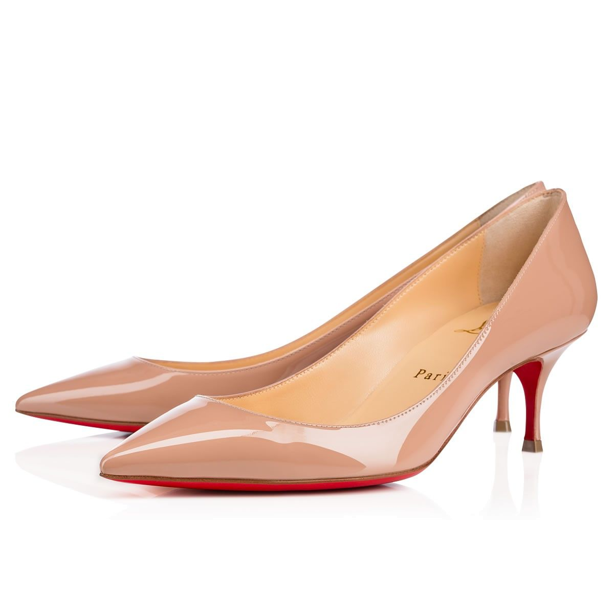 b2071f71f19 Pigalle Follies 55 Nude Patent Leather - Women Shoes - Christian ...