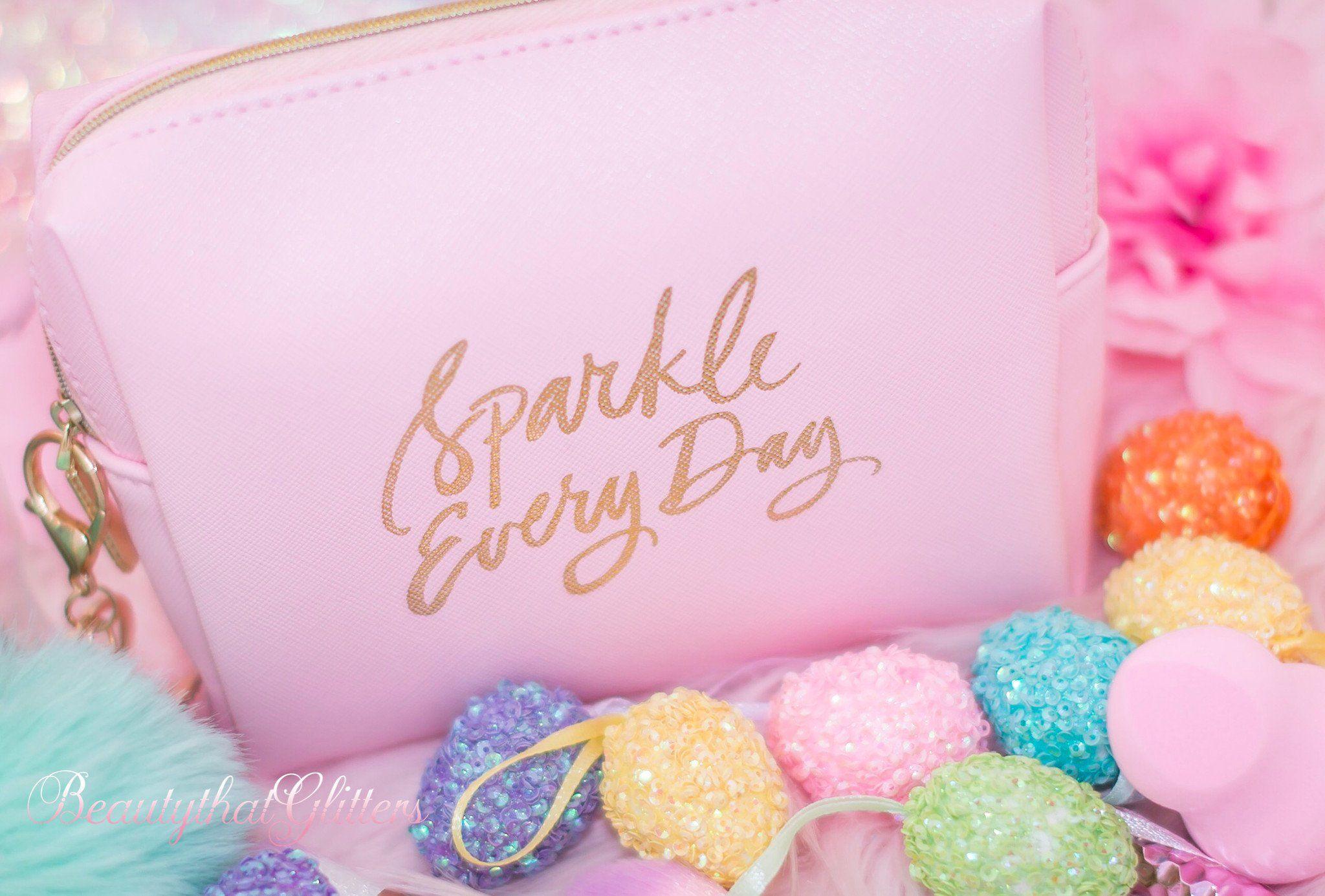 Sparkle Everyday Makeup Bag Sparkle Makeup Everyday Makeup