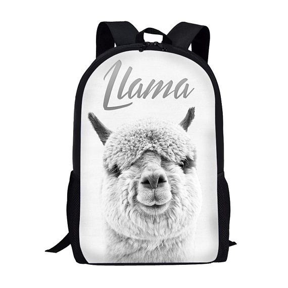 9f47528a3fc School Bags, Pencil Cases & Sets Lovely Llamas Bookbags School Backpack  Laptop Schoolbag for Teens Girls ...