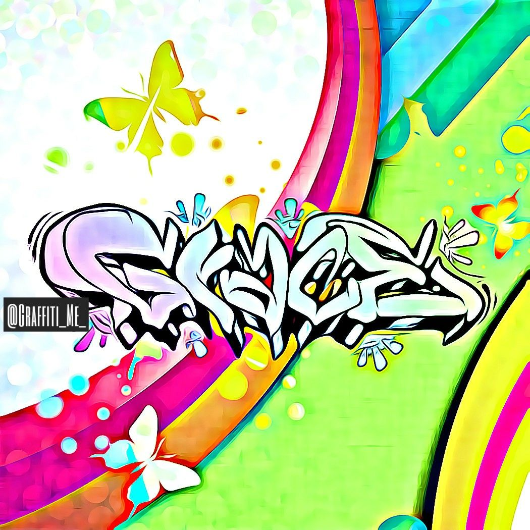 Grace butterflies and specific colors inspired your name by real graffiti artists