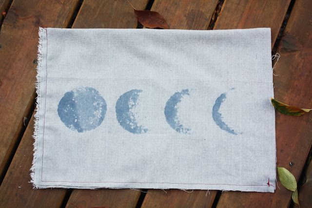 EASY DIY SILVER MOON PHASE PILLOW - under $5
