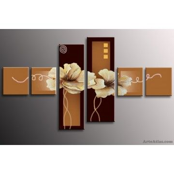 fiori-quadri-moderni-6-pezzi.jpg (360×360) | peinture | Pinterest