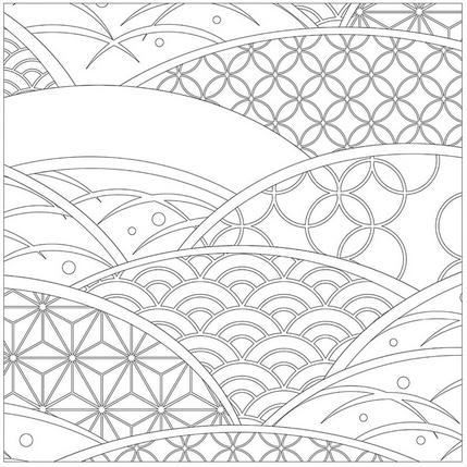 Japanese Coloring Books For Adults Coloring Books Pattern Coloring Pages Japanese Patterns