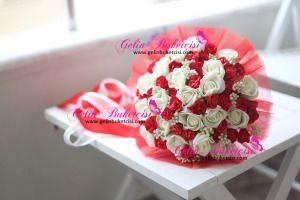 Gelin Çiçeği, gelin buketi, gelin el çiçeği, buket, yapay çiçek, yapma çiçek, fuşya çiçek, evlilik, düğün, aksesuar, hediye, hediyelik, Modern buket, gelin teli, gelin buketçisi, buketçim, buketleri, kırmızı
