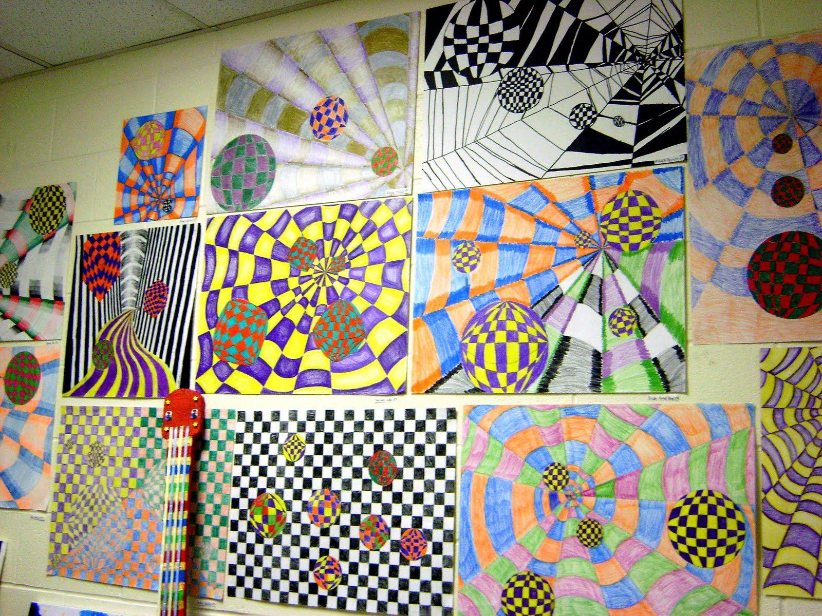 8th Grade Op Art Teducationblog