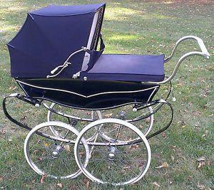 Metal 1950 strollers baby vintage s