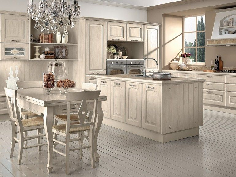 Wooden kitchen with island Veronica Collection by LUBE INDUSTRIES ...