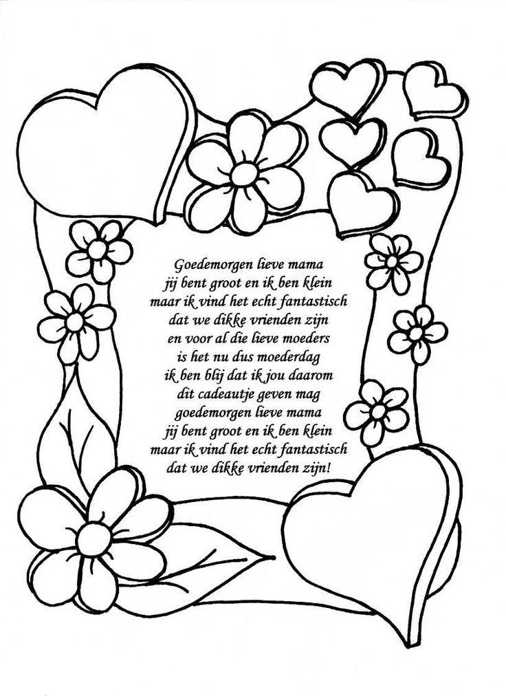 Kleurplaten Oma Is De Liefste.Goedemorgen Lieve Mama Denenecek Projeler Moederdag Vaderdag