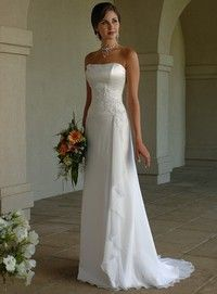 Womens Strapless Bridal Dress