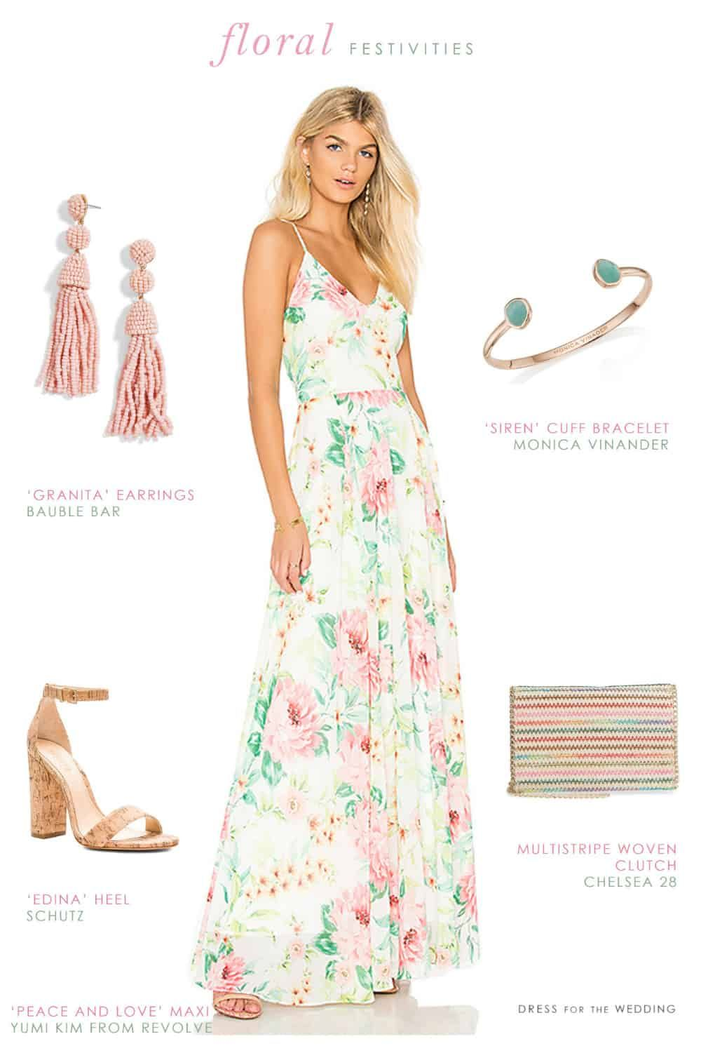 Styling A Ivory Pink And Green Floral Maxi Dress For Summer Dress For The Wedding Summer Fashion Dresses Maxi Maxi Dress Green Summer Dresses [ 1491 x 1000 Pixel ]