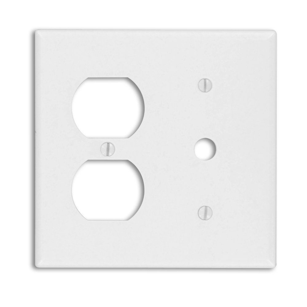 Leviton 88078 2-Gang 1-Duplex 1-Telephone/Cable .406 Device ...