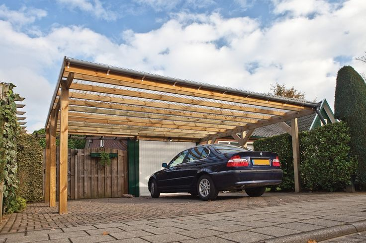 Simple pergola over a driveway google search pergolas for Two car carport plans