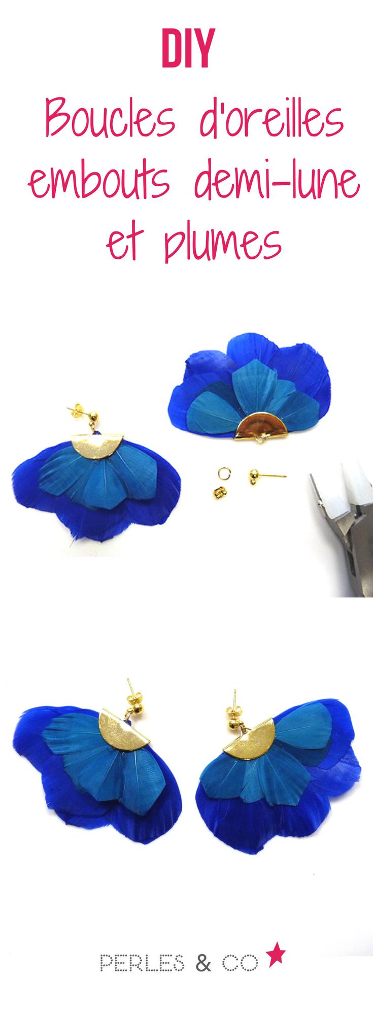 Tuto creation boucle d'oreille plume