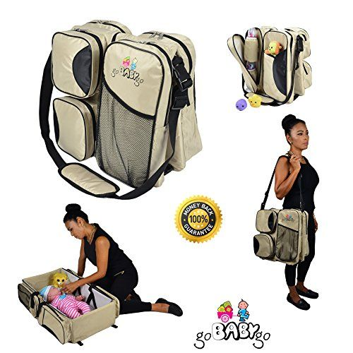3 in 1 Diaper Bag  Travel Bassinet  Portable Baby Change Station BEIGE  1 MultiPurpose Premium Quality Waterproof Baby Travel Bag Infant Carrycot Bed Crib Mattress *** Want to know more, click on the image.