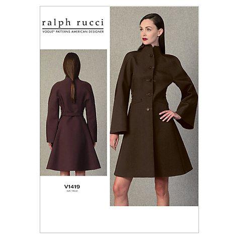 Vogue Ralph Rucci Women\'s Coat Sewing Pattern, 1419