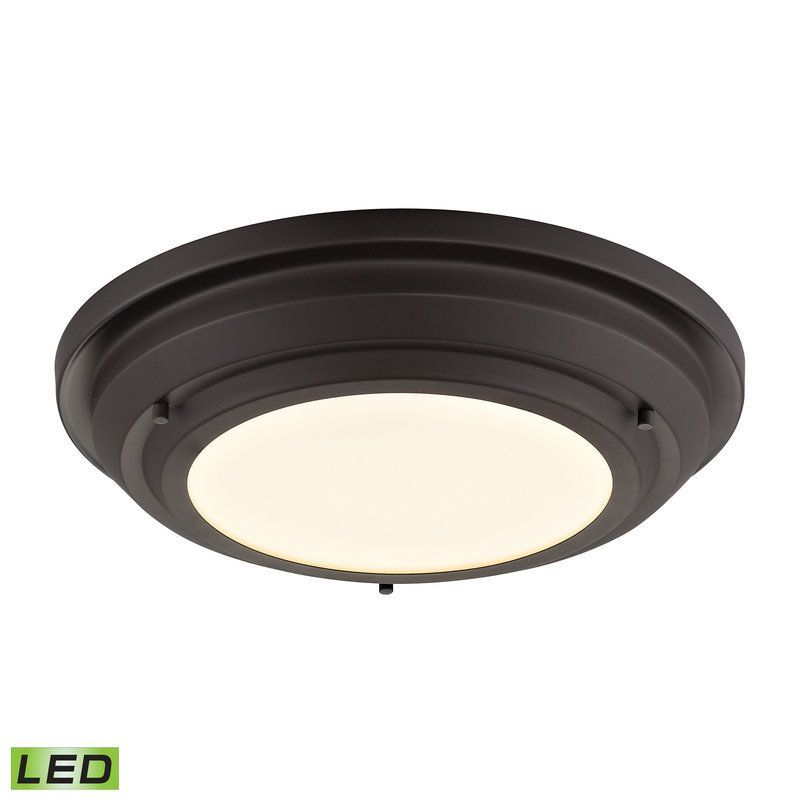 Elk Lighting 57020/LED Sonoma 1 Light LED Flush Mount Ceiling Fixture Oil Rubbed Bronze Indoor Lighting Ceiling Fixtures Flush Mount