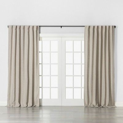 120 Drapery Rod Matte Black Hearth Hand With Magnolia In 2020 Drapery Rods Curtains And Draperies Hearth