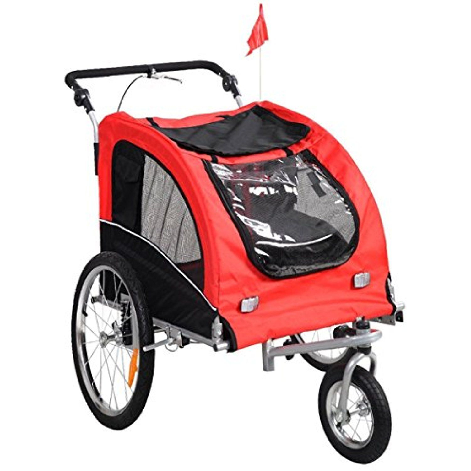 Baby Pet Stroller Jogger Bike Strollers Bicycle Carry Wheels Jogging Ride Dog