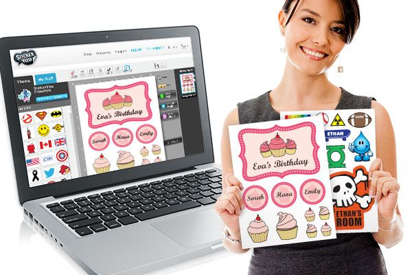 Design your own custom sticker and tattoo pages