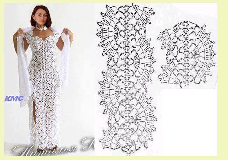 crochet dress diagram   Ganchillo, Plumas de pavo real y Patrones