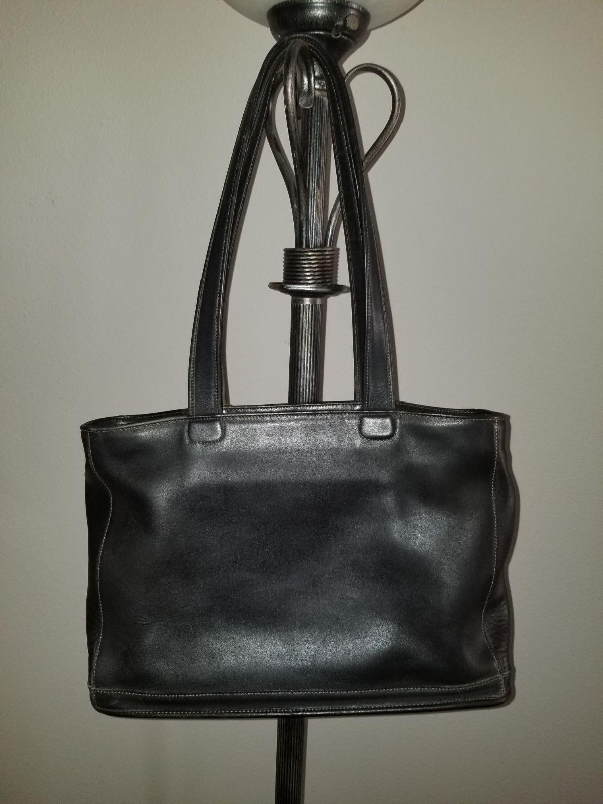 Vintage Coach Bleeker Shoulder Tote Bag Made Usa Color Black