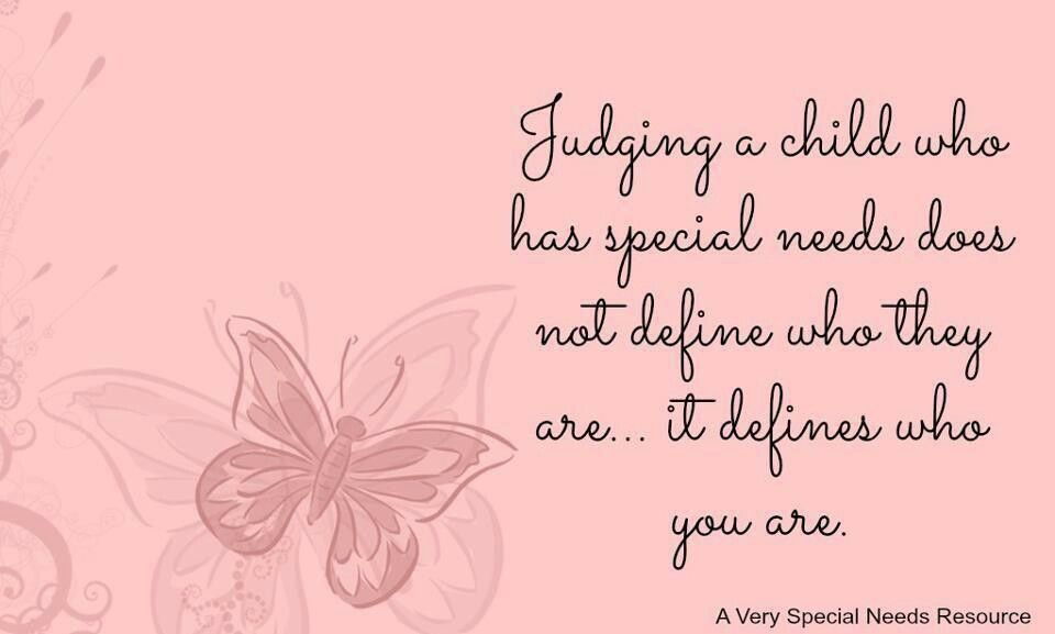 Quotes About Special Needs Children Trae Pinterest Special