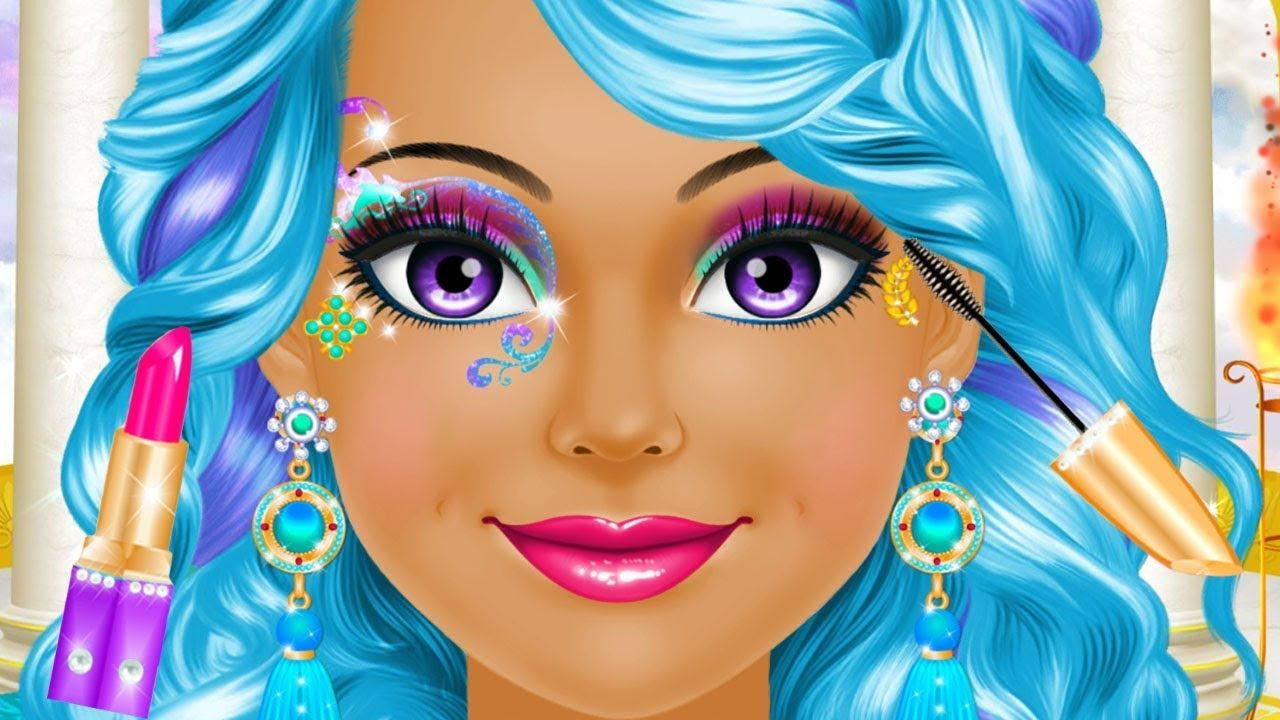 Magical Fantasy Princess Makeup Hair Colors Style Fashion Dress Up Makeover For Girls Kids Games Colors Fantasy Princess Makeup Fantasy Princess Hair Color