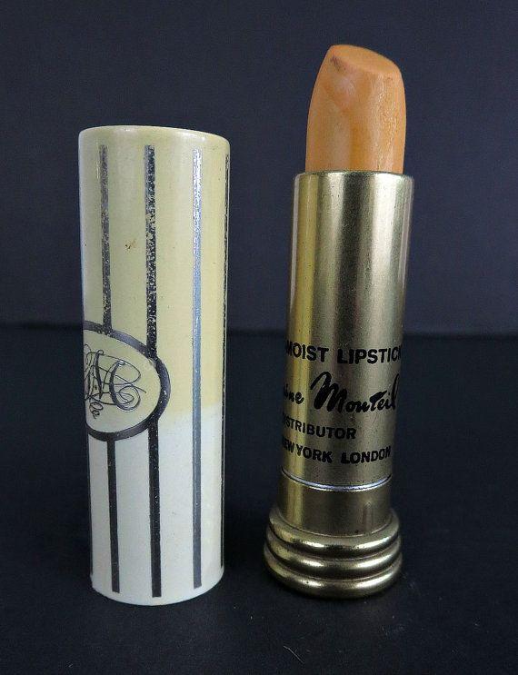 Germaine Monteil Lipstick - Vintage Lipstick - Vintage Makeup - Vintage Lipstick Holder - Lipstick Case - Lipstick Tube - 1970s