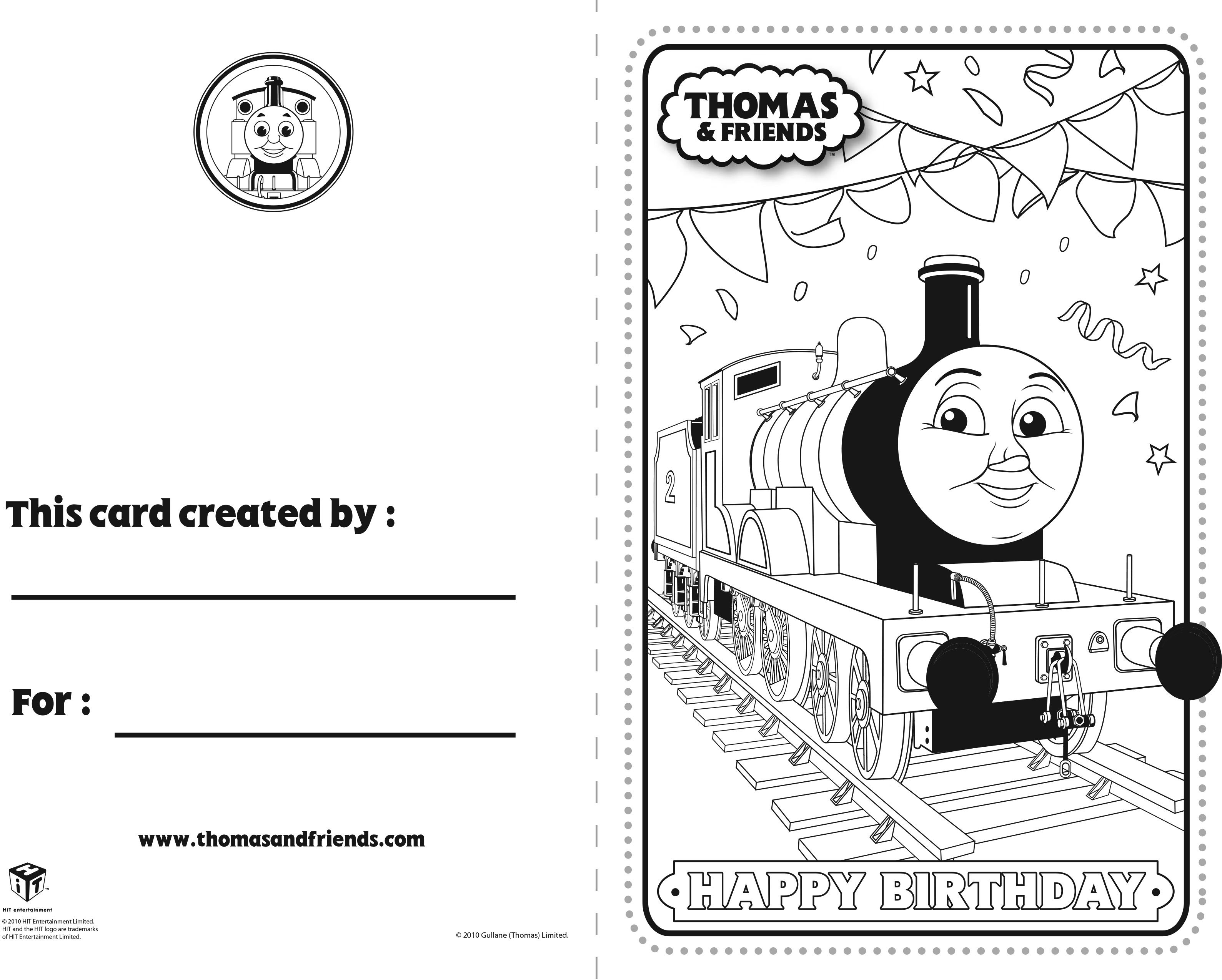 Thomas and Friends Birthday Card – Edward #ThomasandFriends ...
