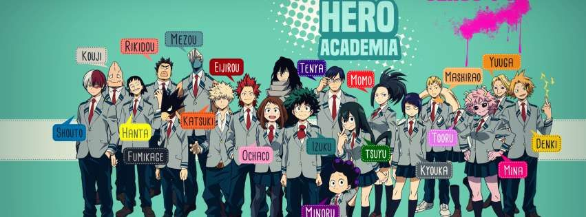 Anime My Hero Academia Heroes Facebook Cover With Images Anime