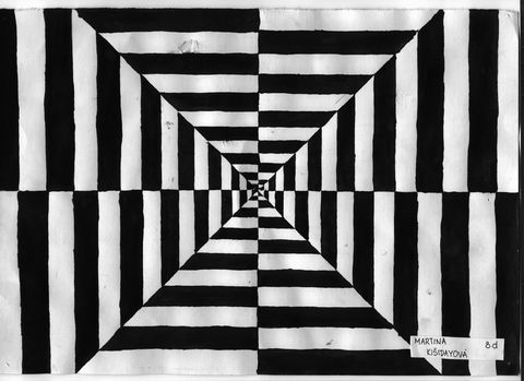 black and white simple optical illusions - Google Search ...
