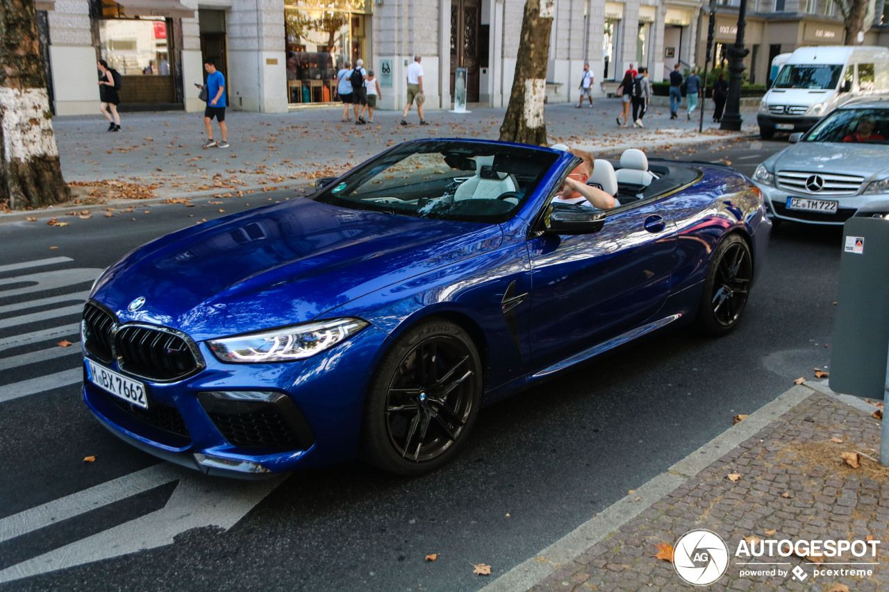 Bmw M8 Competition Convertible Blue In 2020 Bmw Bmw I Convertible
