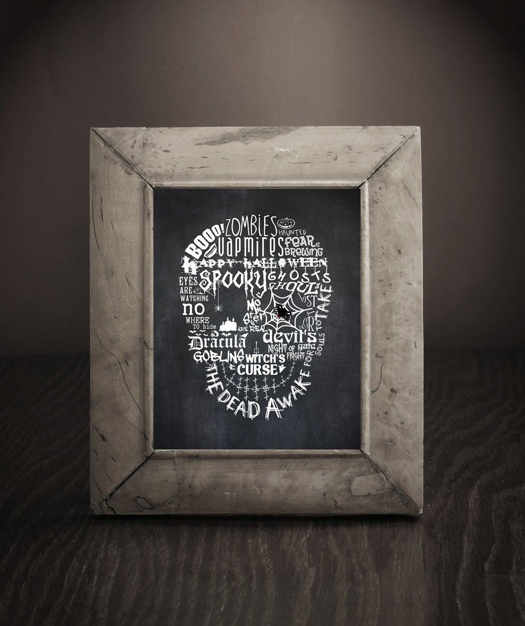 Halloween decor 2014 - Halloween Word Collage Spooky Skull 2014 Halloween For Kids Spooky Skull 2014