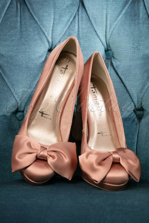 50s Satin Bow Pumps In Pink In 2018 Alles In Rosa Pumps Satin
