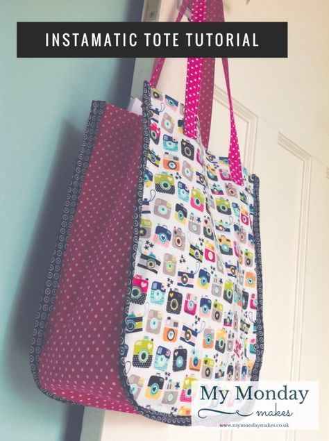 Sew an \'Instamatic\' Tote Bag - free tutorial - | beautiful things ...