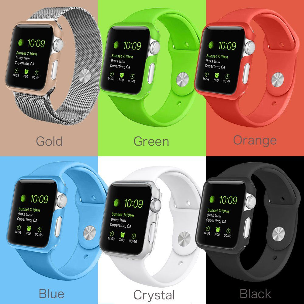 reputable site f0510 4dd1a Amazon.com: [6 Color Pack] Apple Watch Case, Fintie [Ultra-Slim ...