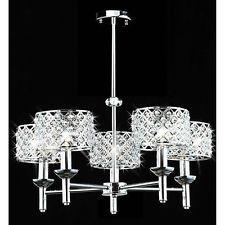 Elegant Crystal Chandelier Pendant Light With 5 Lights Ring Shaped Crystal Chandelier