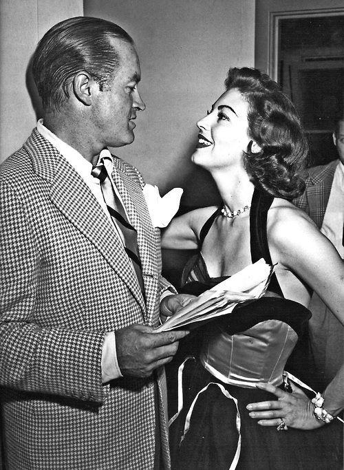 Bob Hope and Ava Gardner at a party, 1952