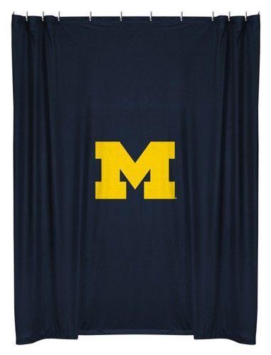 University Of Michigan Wolverines Kids Fabric Shower Curtain