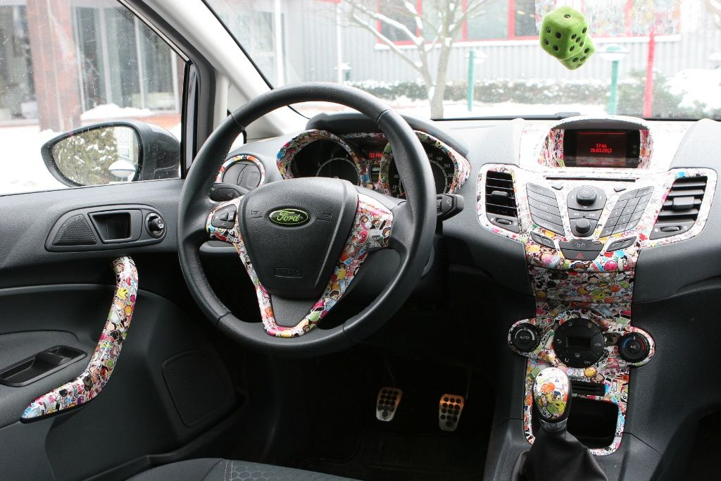 Interieur #Innenraum #Auto #car #vehiclewrapping #stickerbomb #Ford ...