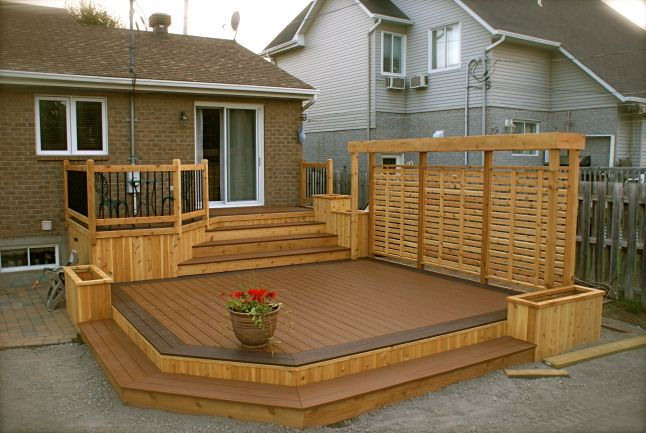 Patio en bois recherche google ext rieur pinterest patios decking an - Photo patio exterieur ...
