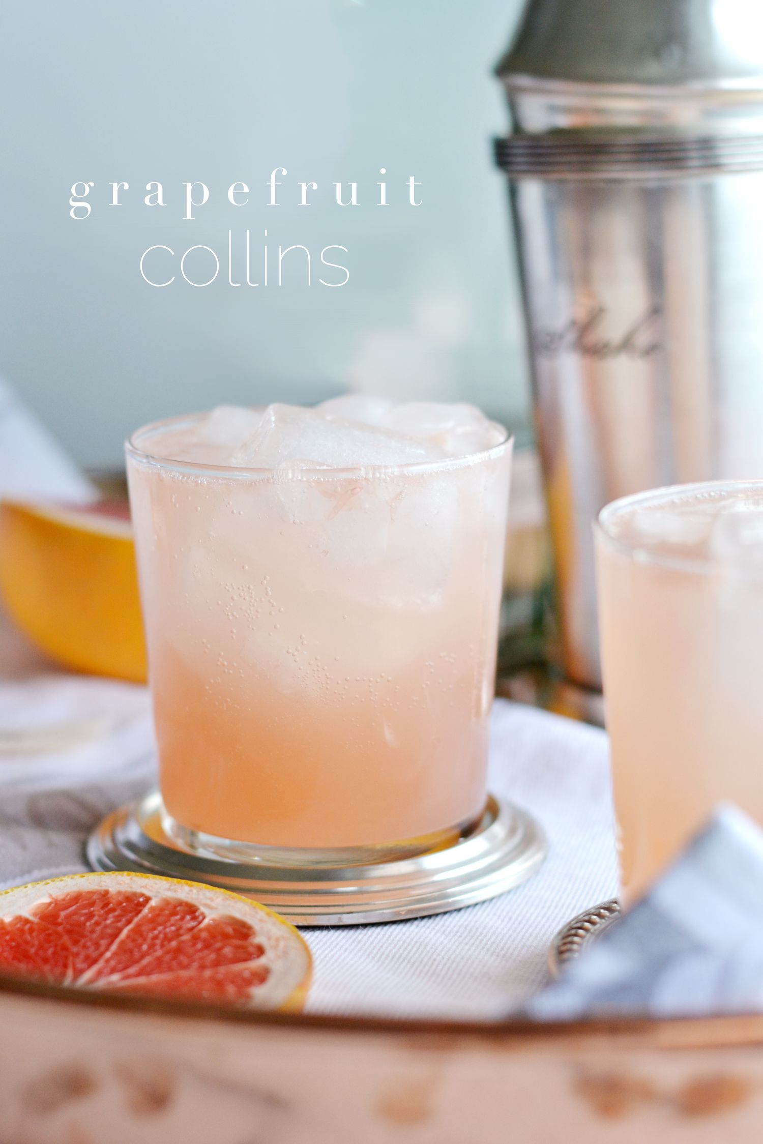 Grapefruit Collins | Toasting From Afar Week 1 - Boxwood Ave