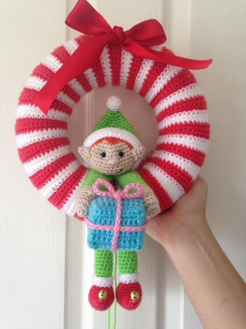 Corona De Navidad De Ganchillo Noël Crochet Couronne Noel
