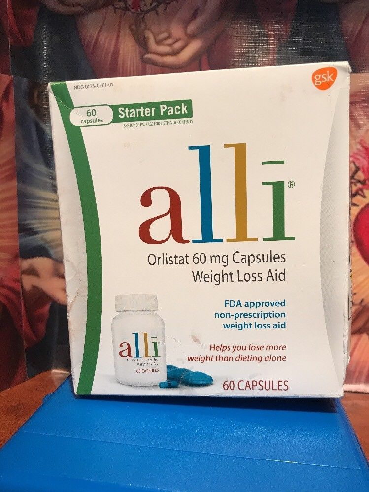 Alli Weight Loss Aid Diet Pills 60 Mg Starter Pack 60 Capsules