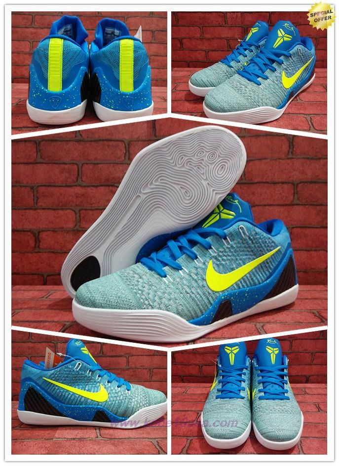 Best Cheap Mens Nike Kobe 9 Elite Low Blue 677992-998
