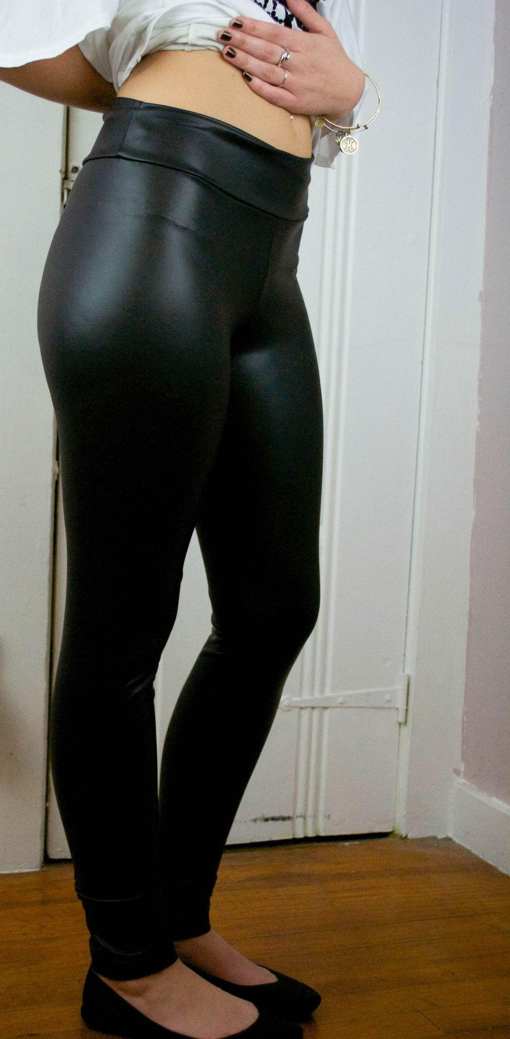 Black Faux Leather leggings – Miss Fancypants Boutique