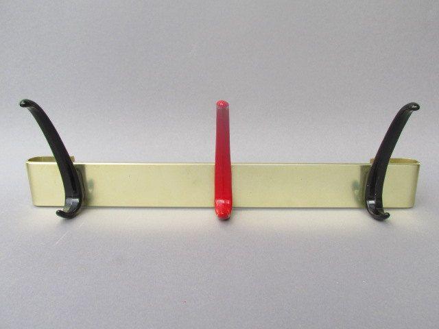 Wandgarderobe Modern wall hook coat rack brass black mid century rockabilly 50s germany