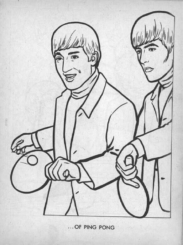 Pin de Nick of Time en Beatles Coloring Book | Pinterest