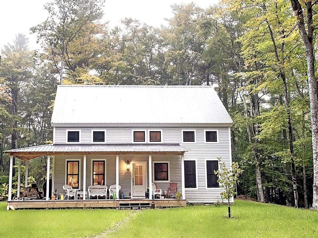 Casco Bay Barn House - a 24 x 40 timber frame built on an ... on